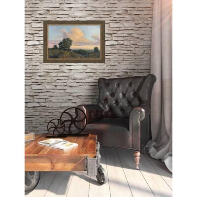 38.5 in. x 53.5 in. 'Wild Garden' by HC Zachary Fine Art Canvas Framed Print Wall Art
