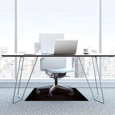 Advantagemat® Black Vinyl Rectangular Chair Mat for Carpets - 48 in. x 60 in.