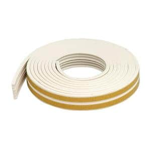 Premium 3/8 in. x 17 ft. White Weatherstrip for Extra Small Gaps (10-Year)
