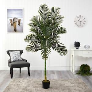 7 ft. Artificial Single Stalk Golden Cane Palm Tree