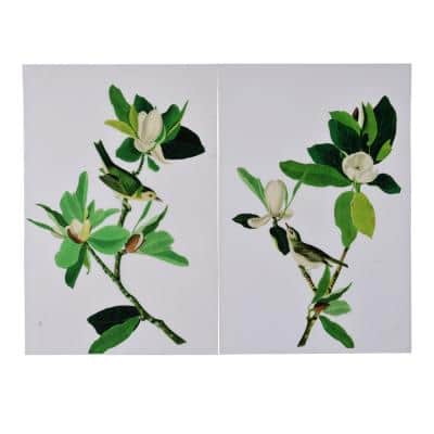 Magnolia Green Blooms Wall Art (Set of 2)