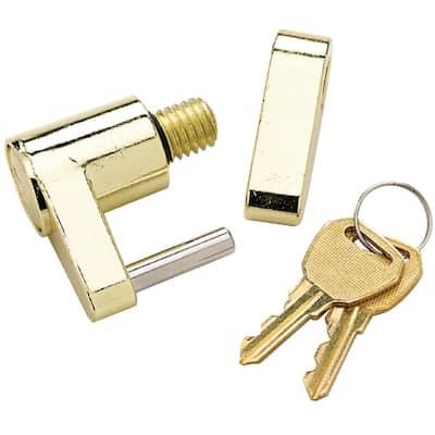 Solid Brass Trailer Hitch Lock