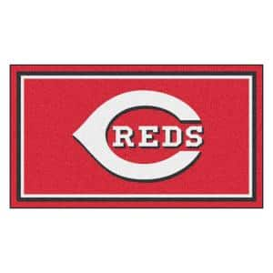 MLB - Cincinnati Reds 3 ft. x 5 ft. Ultra Plush Area Rug