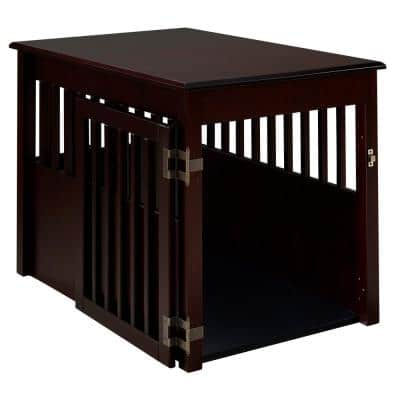 Ruffluv Cappuccino End Table Pet Crate - Large