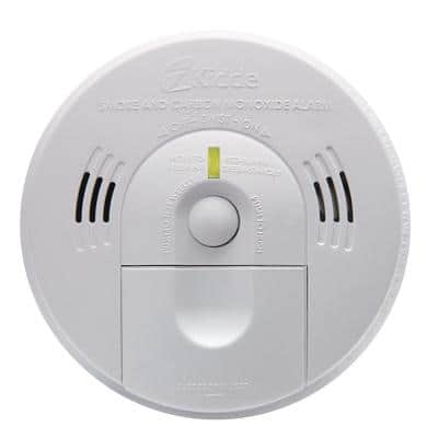 Code One Combination Smoke & Carbon Monoxide Detector, Hardwired with Battery Backup & Voice Alarm, Fire Alarm