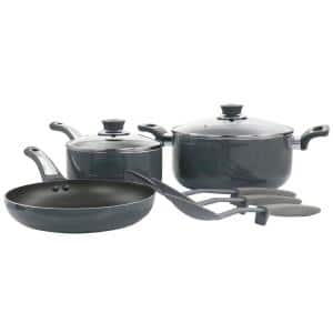 Legacy 8-Piece Gray Aluminum Nonstick Cookware Set