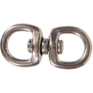 3/4 x 2-3/4 in. Nickel Plated Double Swivel with Round Eyes (10-Pack)