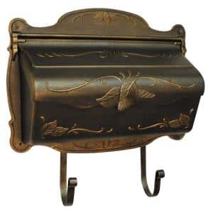 Hummingbird Copper Wall Mount Horizontal Mailbox Shb 1004 Cp The Home Depot
