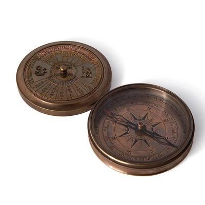 Oakley 40-Year Calander Compass in Brass