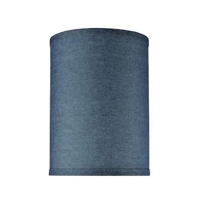8 in. x 11 in. Washing Blue Hardback Drum/Cylinder Lamp Shade