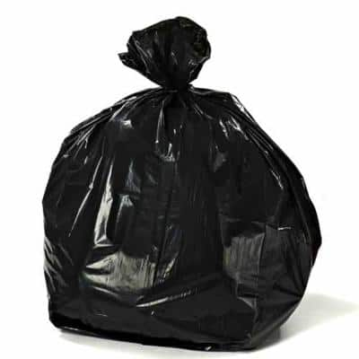 44 Gal. Black Rubbermaid Compatible Trash Bags (Case of 100)