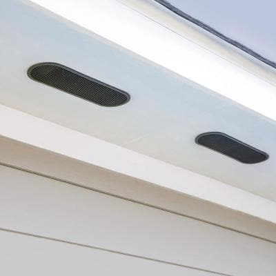 4 in. x 12 in. Oval Brown Built-In Screen Resin Soffit Vent (Carton of 36)