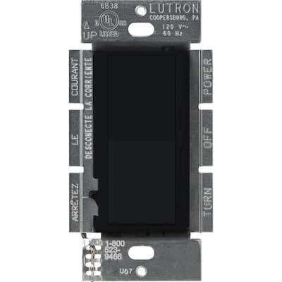 Diva 1000-Watt Single-Pole Preset Dimmer, Black