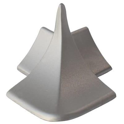 External Angle NS4 Matt Silver 1-1/2 in. x 1-1/2 in. Complement Aluminum Tile Edging Trim
