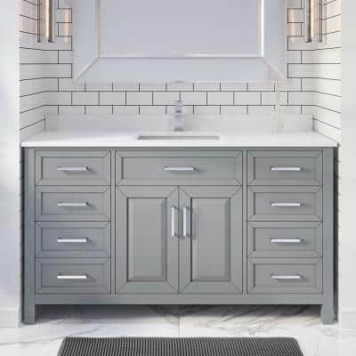 With Electrical Outlet Bathroom Vanities Bath The Home Depot