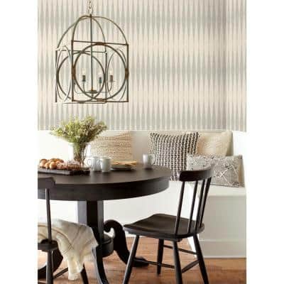 Handloom Cool Grey Geometric Paper Strippable Wallpaper Roll (Covers 56 Sq. Ft.)
