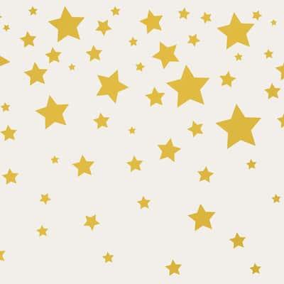 Falling Stars Grey & Metallic Gold Wallpaper Border
