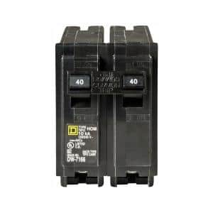 Homeline 40 Amp 2-Pole Circuit Breaker (3-Pack)