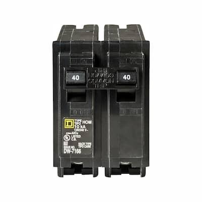 Homeline 40 Amp 2-Pole Circuit Breaker (3-Pack)