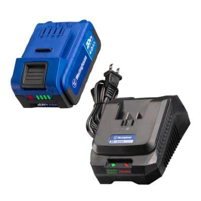 20-Volt Lithium-Ion Battery Pack 4.0 Ah with Rapid Charger Starter Kit