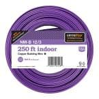 250 ft. 12/3 Purple NM-B Wire