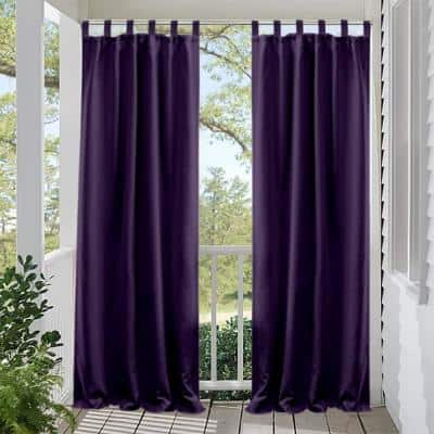 50 in x 120 in Outdoor Curtain Privacy for Patio UV Ray Protected Fade Resistant and Mildew Resistant, Purple