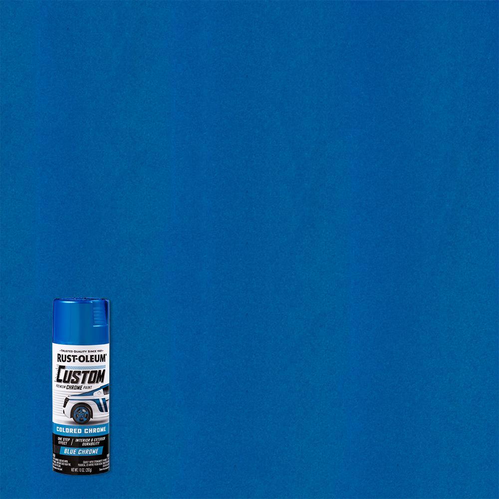 10 oz. Gloss Blue Custom Chrome Spray Paint (6-Pack)