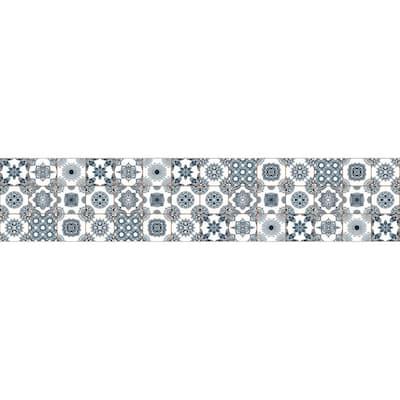 94.5 in. x 19.7 in. Summer Tiles Vinyl Floor Mat
