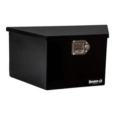 12 in. x 13.25 in. x 26 in. Gloss Black Steel Trailer Tongue Truck Tool Box