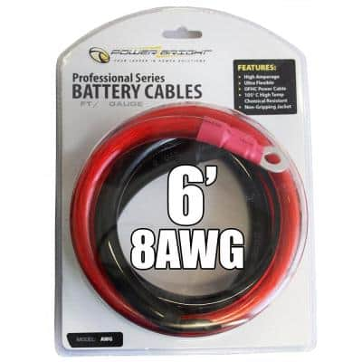 8-AWG6 8 AWG Gauge 6 ft. Professional Series Cables