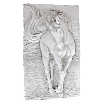 36 in. x 21.5 in. Equine Grandeur Horse Wall Sculpture