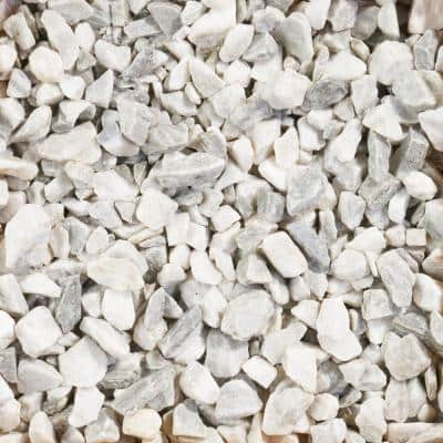 0.50 cu. ft. Medium 0.75 in. to 1.75 in. Premium White Marble Chips (64-Bags/32 cu. ft./Pallet)