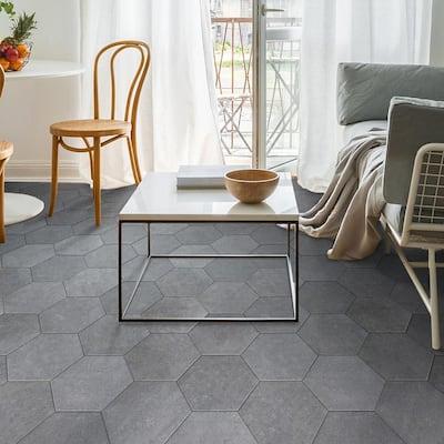 Sanskrit Gray Hex 8.86 in. x 10.20 in. Matte Porcelain Floor and Wall Tile (9.47 sq. ft./Case)