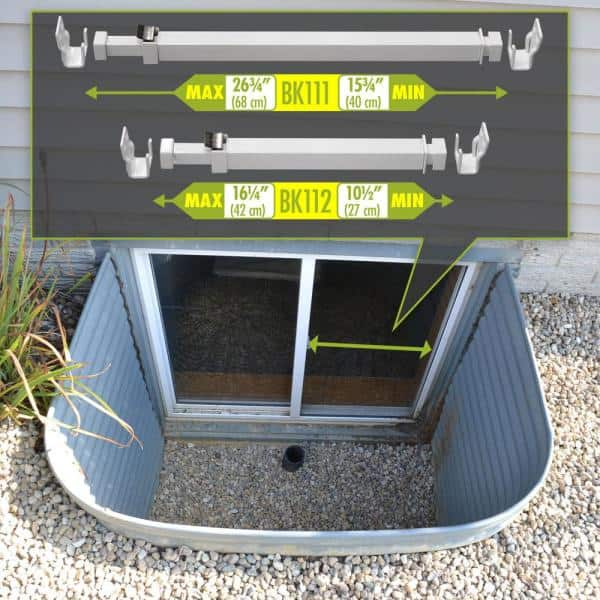 Patio Door Security Bar Child-Proof Lock Adjustable 26-47 in WHITE Large