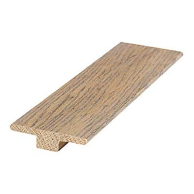 Dovetail Oak 0.56 in. Thick x 2 in. Wide x 84 in. Length T-Mold Hardwood Molding