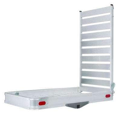 500 lbs. Capacity Hitch-Mounted Aluminum Cargo Carrier with Ramp
