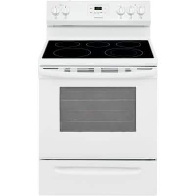 30 in. 5.3 cu. ft. Electric Range with Manual Clean in White