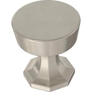Classic Octagon 1-1/4 in. (32 mm) Satin Nickel Cabinet Knob