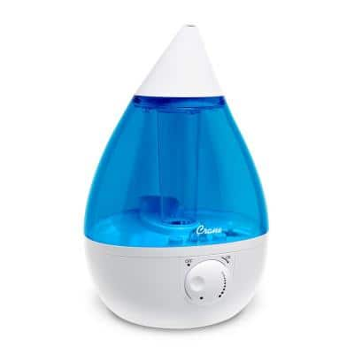 1 Gal. Drop Ultrasonic Cool Mist Humidifier for Medium to Large Rooms up to 500 sq. ft. - Blue/White