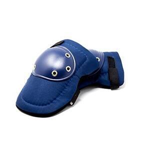 Knee Pads - Tough Cap Thick Foam Padding, Adjustable Elastic Straps (Blue)