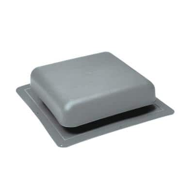 60 sq. in. NFA Gray Resin Square-Top Roof Louver Static Vent (Carton of 10)