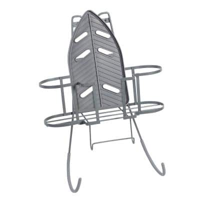 Over-the-Door Hanging Ironing Center Caddy and Board Holder