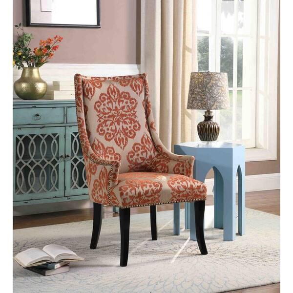 Best Master Furniture Eliza Orange, Living Room Accent Chair