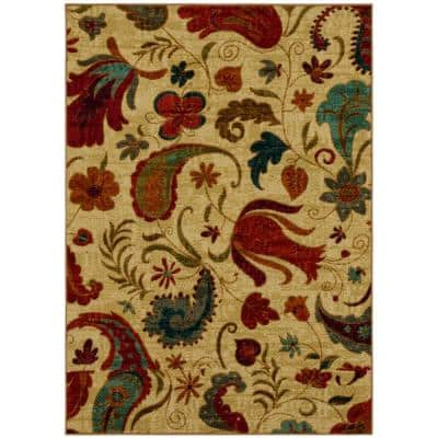 Tropical Acres Multi 6 ft. x 9 ft. Indoor Area Rug