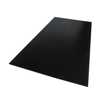 18 in. x 24 in. x 0.118 in. Foam PVC Black Sheet