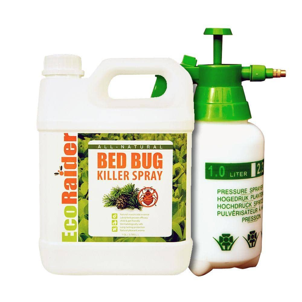 Ecoraider 1 Gal Natural Non Toxic Bed Bug Killer Jug Value Pack With Pressurized Pump Sprayer Eb1rm5001g The Home Depot
