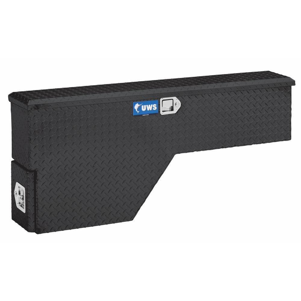 "Gloss Black Aluminum 48"" Driver-Side Truck Fender Tool Box (Heavy Packaging)"