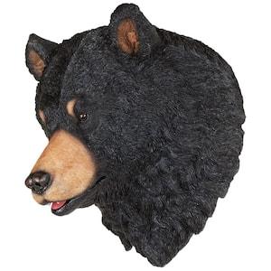 12.5 in. x 12 in. American Black Bear Sculptural Wall Trophy