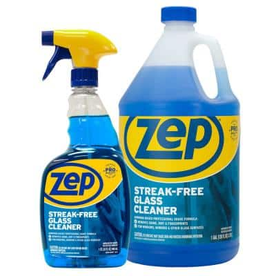Streak Free Glass Cleaner with Refill Kit