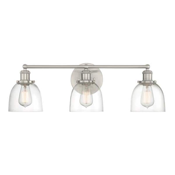Home Decorators Collection Evelyn 3 Light Brushed Nickel Vanity Light Hb2586 35 The Home Depot